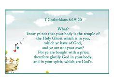 1 Corinthians 6:19-20 †
