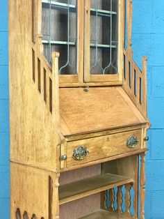 Arts and Crafts Bureau Bookcase http://www.walcotandco.co.uk/cabinets-and-storage/arts-and-crafts-bureau-bookcase-3