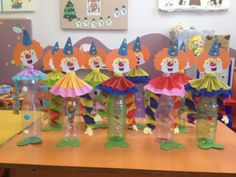 Circus Crafts, Carnival Games, Recycling, Dolls, Clowns, Safari, Activities For Toddlers, Cake Birthday, Ornaments