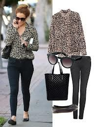 silky oversize top + black skinnies + flats