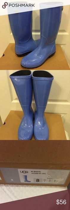 NWT UGG SHAYE RAINBOOT Drizzles and downpours call for a sleek rain boot. SHAYE keeps feet warm and dry with waterproof rubber. - 100% authentic and come from smoke free home. UGG Shoes Winter & Rain Boots