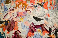 Gino Severini - Dynamic Hieroglyphic of the Bal Tabarin, 1912 Paris Nightclub, Gino Severini, Italian Painters, Cubism, Museum Of Modern Art, Night Club, First World, Oil On Canvas, Mosaic