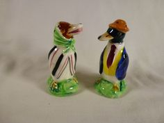 Vintage Salt Pepper Duck Husband In Suit Wife In Scarf