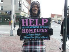 homeless signs and good design - 1   Can Good Graphic Design Help The Homeless?   Co.Design: business + innovation + design