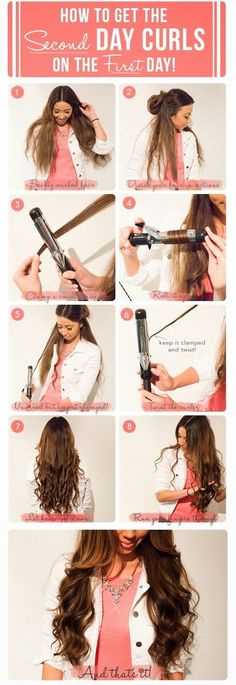 How to Get 2nd Day Curls on the 1st Day - #curls #hairtutorial #hairstyle #hair