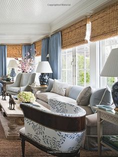 Roman shades, love combination w/drapes also…this is idea for dining room feel!