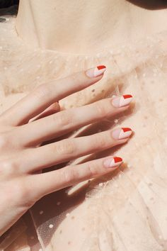 Subtle Nails, Funky Nails, Red Nails, Oxblood Nails, Nail Lacquer, French Tip Nails, Reverse French Nails, French Manicure Nails, French Nail Art