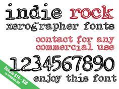 Indie Rock Font | dafont.com