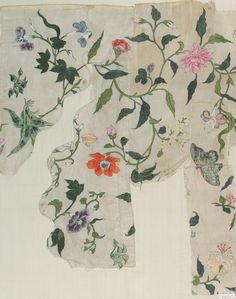 robert-hadley:  Fragment ( China ), 18th century silk cooperhewitt.org