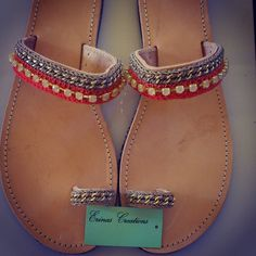 """Coral"" Handmade Sandals Palm Beach Sandals, Handmade Clothes, Coral, Shoes, Women, Fashion, Diy Clothing, Moda, Zapatos"