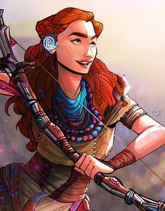 Character Art, Character Design, Character Ideas, Robot Dinosaur, Female Heroines, Arrow Black Canary, Facebook E Instagram, Horizon Zero Dawn, Video Games Funny