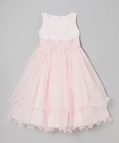 This Pink Lace Tiered Dress - Infant, Toddler & Girls by Kid's Dream is perfect! #zulilyfinds