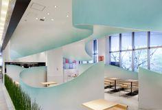 Futurisztikus japán teaház. Nana's Green Tea, store design by KAMITOPEN