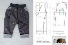 moldes-de-conjuntos-para-ninos-2 Baby Dress Patterns, Baby Clothes Patterns, Clothing Patterns, Sewing Patterns, Sewing Kids Clothes, Girl Doll Clothes, Baby Boy Outfits, Kids Outfits, Romper Pattern