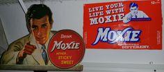Moxie memorabilia fun, the Moxie soda jerk changed over the years.