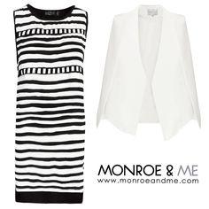Sleek & Stylish in this #monochrome #ootd #cape #tailored #lavishalice #eviltwin #stripes #workwear #likeaboss #bosswoman #blazer #fashion #style #trend #monroeandme #dubai #mydubai #abudhabi #uae