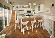Wow...love this option! Great kitchen, floors, stairs... Island Series Park Model Home | Kropf