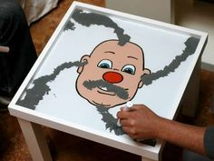 DIY Wooly Willy Magnet Table