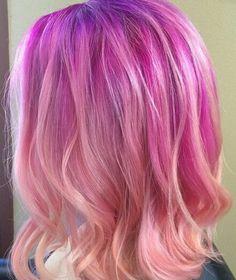 Purple ombre pastel dyed hair #sparkscolor
