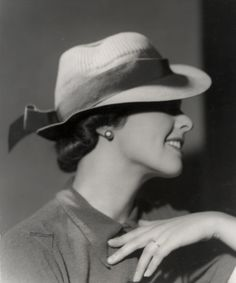 Swedish fashion, 1937      Lady's fedora--my second favorite hat style