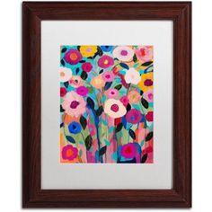 Trademark Fine Art Autumn Splendor Canvas Art by Carrie Schmitt, White Matte, Wood Frame, Size: 16 x 20, Brown