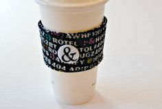 Texting Coffee Cup Cozy Home and Living by CinnamonStixSundries