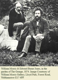 William Morris and Edward Burne Jones in the garden of The Grange 1874