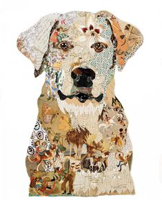 collage board This looks like my sweet Thor! The Art of Collage Brenda Bogart Collage Kunst, Collage Art Mixed Media, Dog Artwork, Collage Artwork, Collage Ideas, Dog Quilts, Animal Quilts, Collage Portrait, Newspaper Art