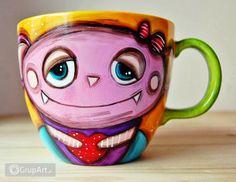 Grupart.pl - Kubek XXL 1 litr Wampirka i kitek - Wnętrze - Ceramika Mugs, Tableware, Dinnerware, Tumblers, Tablewares, Mug, Dishes, Place Settings, Cups