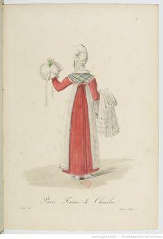 Femme de chambre / Costumes d'ouvrières parisiennes par Gatine (1824) / Bibliothèque Nationale de France