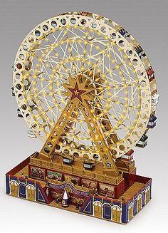 Mr Christmas World's Fair Grand Ferris Wheel Music Box Christmas World, Mr Christmas, Antique Toys, Vintage Toys, Antique Music Box, Vintage Music, Carrousel, Carnival Rides, Pretty Box