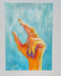 Art is a highest form of hope. #hope #pray Painted by Cristina Marin Acrilyc on paper 250 gr/mp #artwork #painting #original  My hand. In Instagram cristina_marin_artist