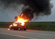 Fire broke out in a car in Ierapetra