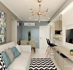 Cheap Home Decor Condo Living, Small Living Rooms, Home Living Room, Living Room Designs, Living Room Decor, Condo Design, House Design, Deco Studio, Condo Decorating