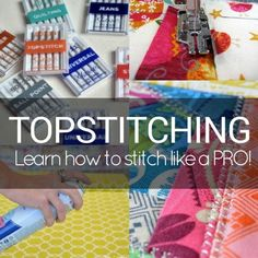 Learn how easy it is to sew like a pro with these Top Stitching Tips. They will have you experimenting and adding stitch details to your projects.
