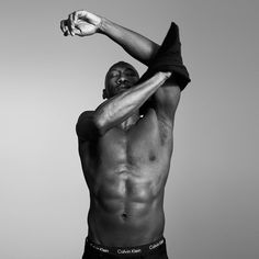 Mahershala Ali and Trevante Rhodes stripped down for the ads, showing off their chiseled physiques in the label's undergarments.