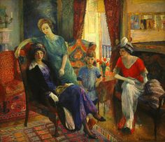 Family Group by William Glackens, at the National Museum of Art in Washington, D.C. Large canvas -- about 6 x 7 feet, but hardly ever on display.