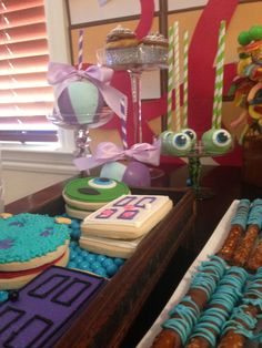 Monster inc Birthday Party Ideas - door cookies