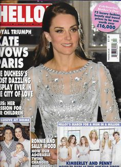 Hello magazine Kate Middleton Ron Wood Special Mothers Day issue Lisa Faulkner