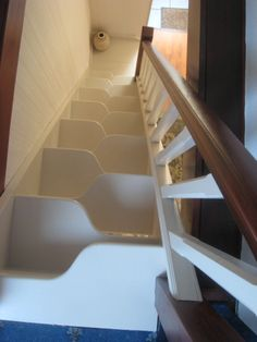 Be inspired by a huge range of completed staircase projects in oak, pine, glass and more. Whether designing a brand-new staircase or simply renovating an existing staircase, find plenty of design ideas in our gallery. Space Saver Staircase, Small Staircase, Tiny House Stairs, Attic Stairs, Modern Staircase, Staircase Design, Stair Design, Stair Bookshelf, Staircase Manufacturers