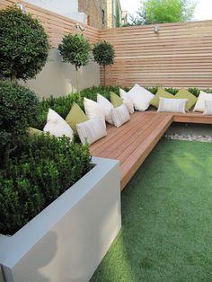 Back Garden Design, Modern Garden Design, Backyard Garden Design, Yard Design, Sloped Backyard, Backyard Seating, Backyard Fences, Garden Front Of House, Side Yard Landscaping