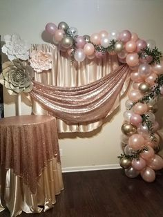 Awesome sweet sixteen party ideas for girls Balloon Garland, Balloon Arch, Balloon Decorations, Baby Shower Decorations, Balloons, Sweet 16 Birthday, 50th Birthday Party, Birthday Party Decorations, Wedding Decorations