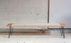 This simple DIY bench combines many of my favorite features: mid-century minimalism, natural wood, and woven wool for that warm, inviting look. You can make this bench yourself in about an hour for just $85 (plus whatever you use for the woven sleeve). If you're looking to add a modern bench to your next DIY project, check this out. Brought to you by Ben Uyeda atHomeMade Modern, this bench is super easy to build.For step-by-step instructions, watch the quick video above (80 seconds…