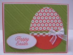 Stampin Up Handmade Greeting Card: Easter Card, Happy Easter, Easter Eggs, Easter Greetings, Spring
