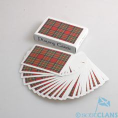 Royal Stewart Tartan Playing Cards Scottish Gifts For Her Scottish Clans Tartans Kilts Crests and Gifts