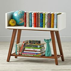 Alto Bookcase (White/Walnut) | The Land of Nod