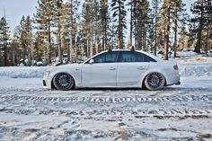 My Favourite Snow Plow! #Audi S4 on Rotiform wheels with Accuair suspension