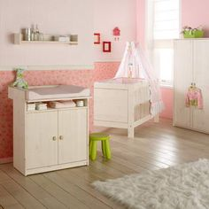Canopy is kinda cute and a different idea for a girls room.