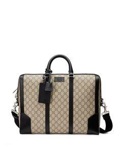 Gucci Eden GG Supreme Canvas Briefcase, Beige Plus