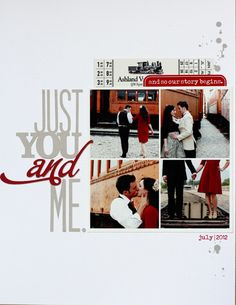 Just You and Me by Kerri Bradford Scrapbook Examples, Love Scrapbook, Paper Bag Scrapbook, Scrapbook Titles, Wedding Scrapbook, Scrapbook Page Layouts, Scrapbook Cards, How To Make A Paper Bag, Owl Clip Art